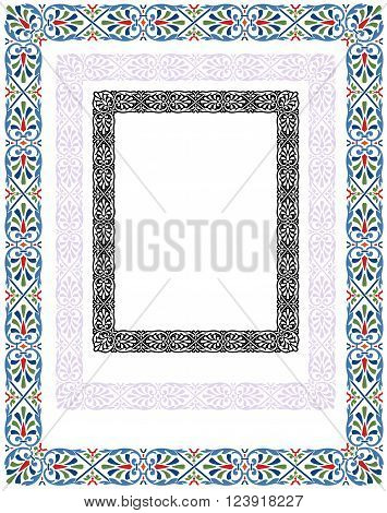 abstract border design inspired by traditional central European ornament