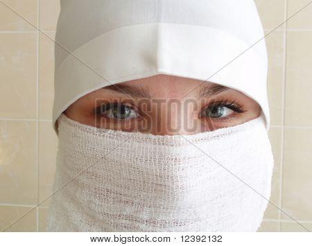 portrait of operative nurse