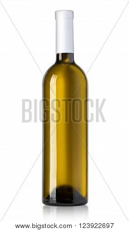 Green Bottle With White Wine