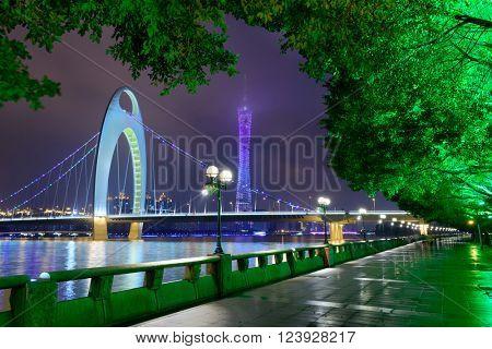 Guangzhou, China river scene.