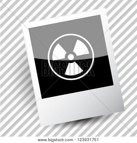 radiation symbol. Photoframe. Raster icon.