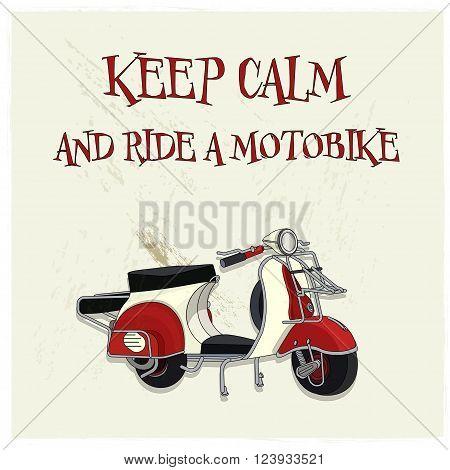 vintage motorbike cool retro poster vector illustration