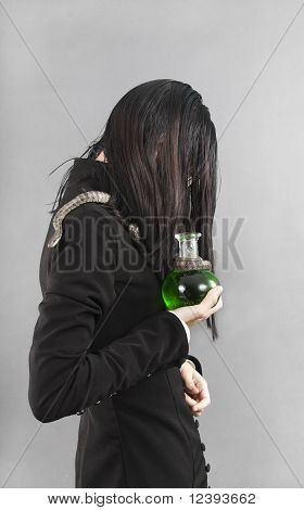 The Sad Person With Snake Hold Poison