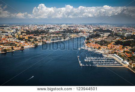City of Porto aerial view, Portugal