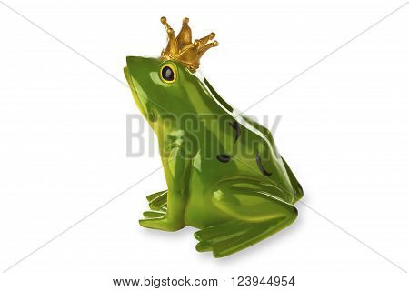 Figure from frog prince isolated on white background