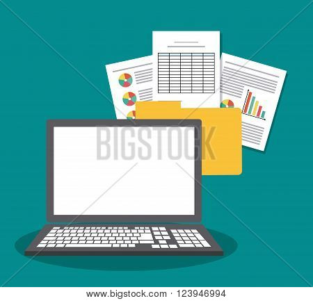 Spreadsheet concept with icon design, vector illustration 10 eps graphic