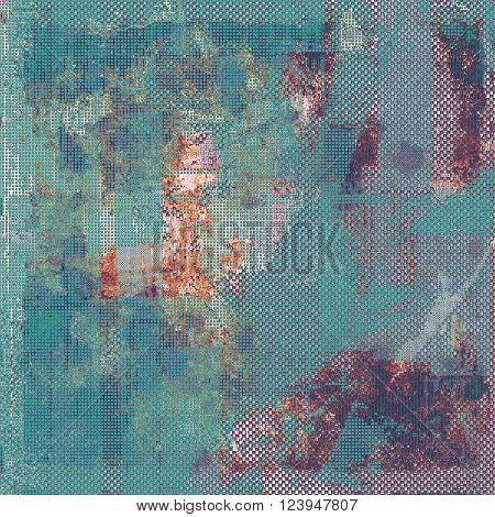 Glamour vintage frame, decorative grunge background. Aged texture with different color patterns: brown; blue; red (orange); purple (violet); cyan