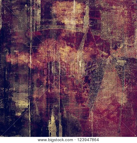 Vintage aged texture, old scratched background. With different color patterns: yellow (beige); brown; purple (violet); pink