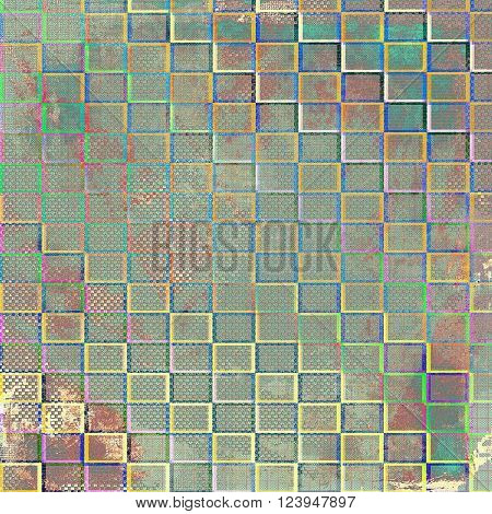 Retro vintage style background or faded texture with different color patterns: brown; green; blue; red (orange); purple (violet)