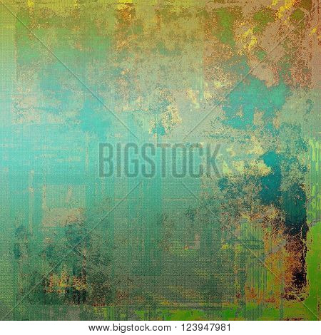 Retro grunge vintage background or weathered antique texture with different color patterns: yellow (beige); brown; green; blue; cyan