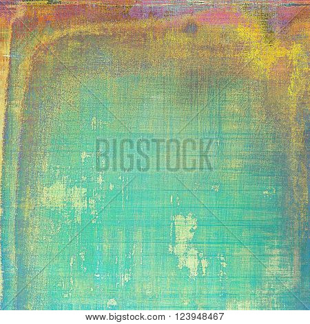 Glamour vintage frame, decorative grunge background. Aged texture with different color patterns: yellow (beige); green; blue; red (orange); purple (violet)