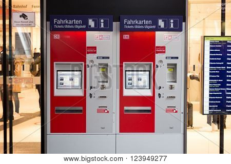 Train Ticket Vending Machine Of The German Railroad Company (deutsche Bahn)