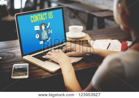 Ask us Buy Online Consult Contact us Customer Support Concept