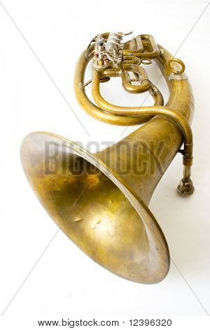 isolated alto saxhorn on white background