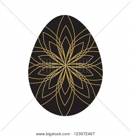 Easter eggs isolated. Vector illustration. Happy easter background
