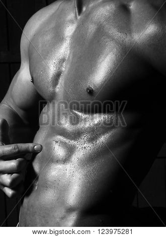 One Beautiful Sensual Male Body