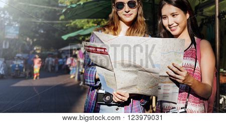 Friends Buddy Traveler Trip Vacation Concept