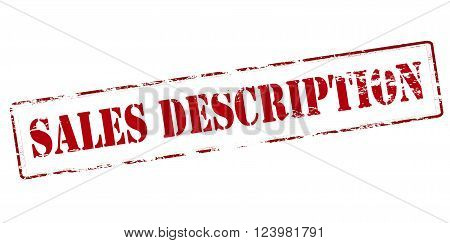 Rubber stamp with text sales description inside vector illustration`