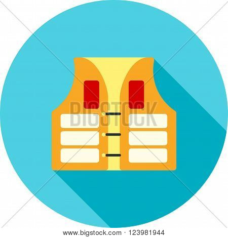 Life, jacket, vest icon vector image. Can also be used for sea. Suitable for use on web apps, mobile apps and print media.