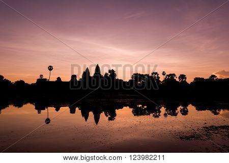 Sunrise Of Ancient Temple
