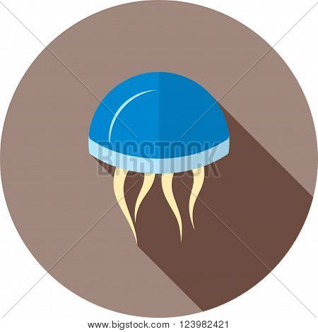 Jellyfish, sea, jelly icon vector image. Can also be used for sea. Suitable for use on web apps, mobile apps and print media.