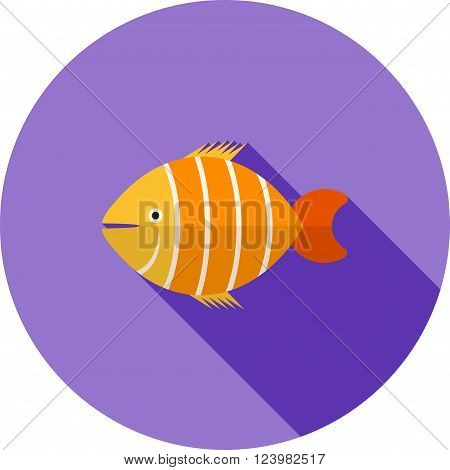 Fish, clown, clownfish icon vector image. Can also be used for sea. Suitable for use on web apps, mobile apps and print media.