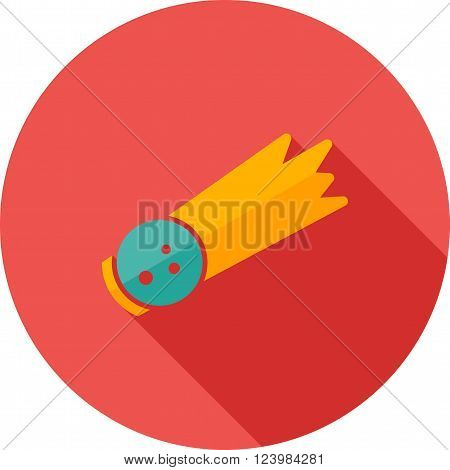 Comet, asteroid, fireball icon vector image.Can also be used for astronomy. Suitable for use on web apps, mobile apps and print media.