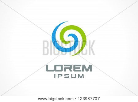 Icon design element. Abstract logo idea for business company.  Eco, green, water, SPA, Cosmetics and medical concepts.  Pictogram for corporate identity template. Stock Illustration Vector
