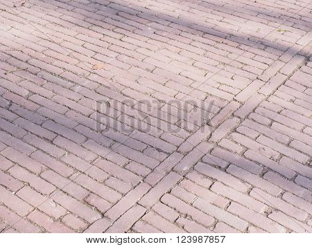 Pattern of pavers in a park at The Hague Netheerlands 2016