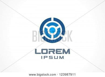 Icon design element. Abstract logo idea for business company.  Finance, communication, technology, science and medical concepts. Pictogram for corporate identity template. Stock Illustration Vector