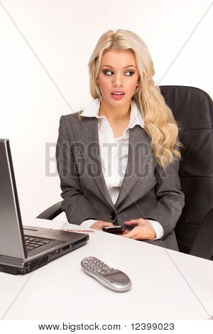 Young Beautiful Business Lady
