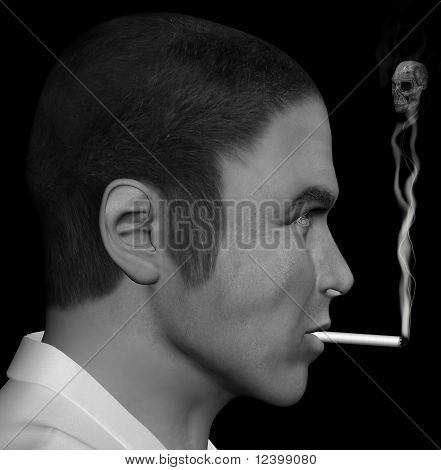 Smoking Man And Smoke Skull