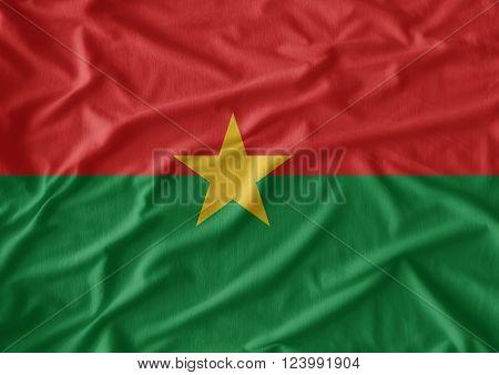 Burkina Faso waving flag use for art background