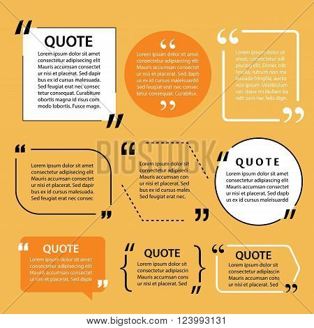 modern quote text template design elements for web and print