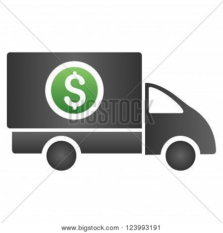 Money Delivery vector toolbar icon for software design. Style is a gradient icon symbol on a white background.