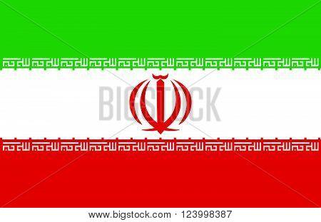 Nice drawing of amazing horizontal Iranian flag.