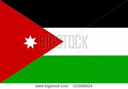 Jordanian Flag.