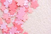 ������, ������: Cherry blossom background image Cherry blossom abstract background Sakura or cherry flower shaped