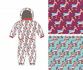 Постер, плакат: Democrat Baby Childrens Clothing Democrat Donkey Seamless Pattern Donkey Texture Symbol Of Politi