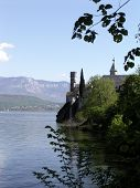 picture of carthusian  - Side view of Hautecombe Abey in  Lac du Bourget, Aix les Bains, France-