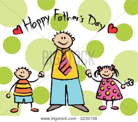 Happy Father's Day (Vector) - light skin