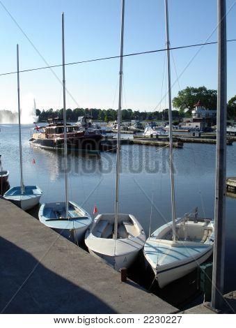 Peterborough, Ontario Sailboats At Dock