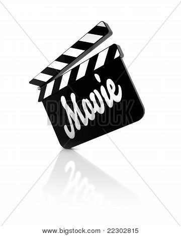 film clapper with reflection
