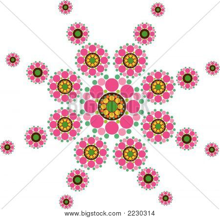 Fuchsia Snow Flower (Vector) - Illustration