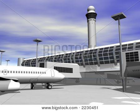 3D Airport Terminal