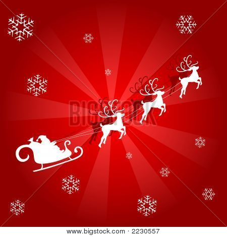 Snowflakes Background - Red