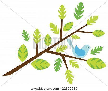 Twig with a bird