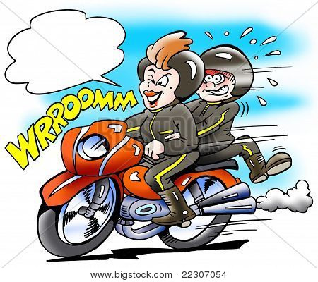 Its Mom There Runs The Motorbike