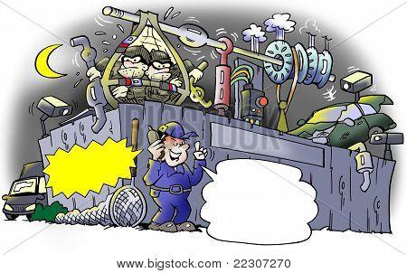 Burglary At A Junkyard