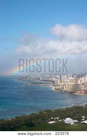Rainbow Over Waikiki/honolulu